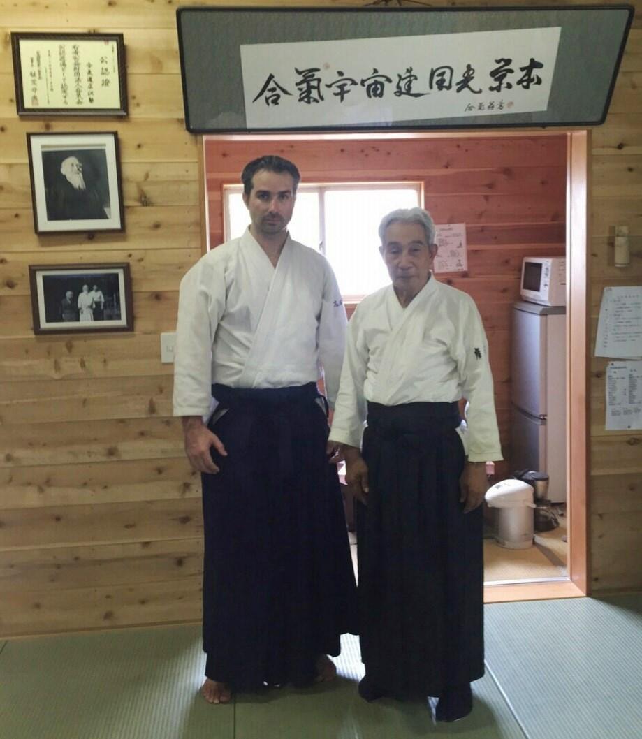Junto a Hideo Hirosawa Shihan