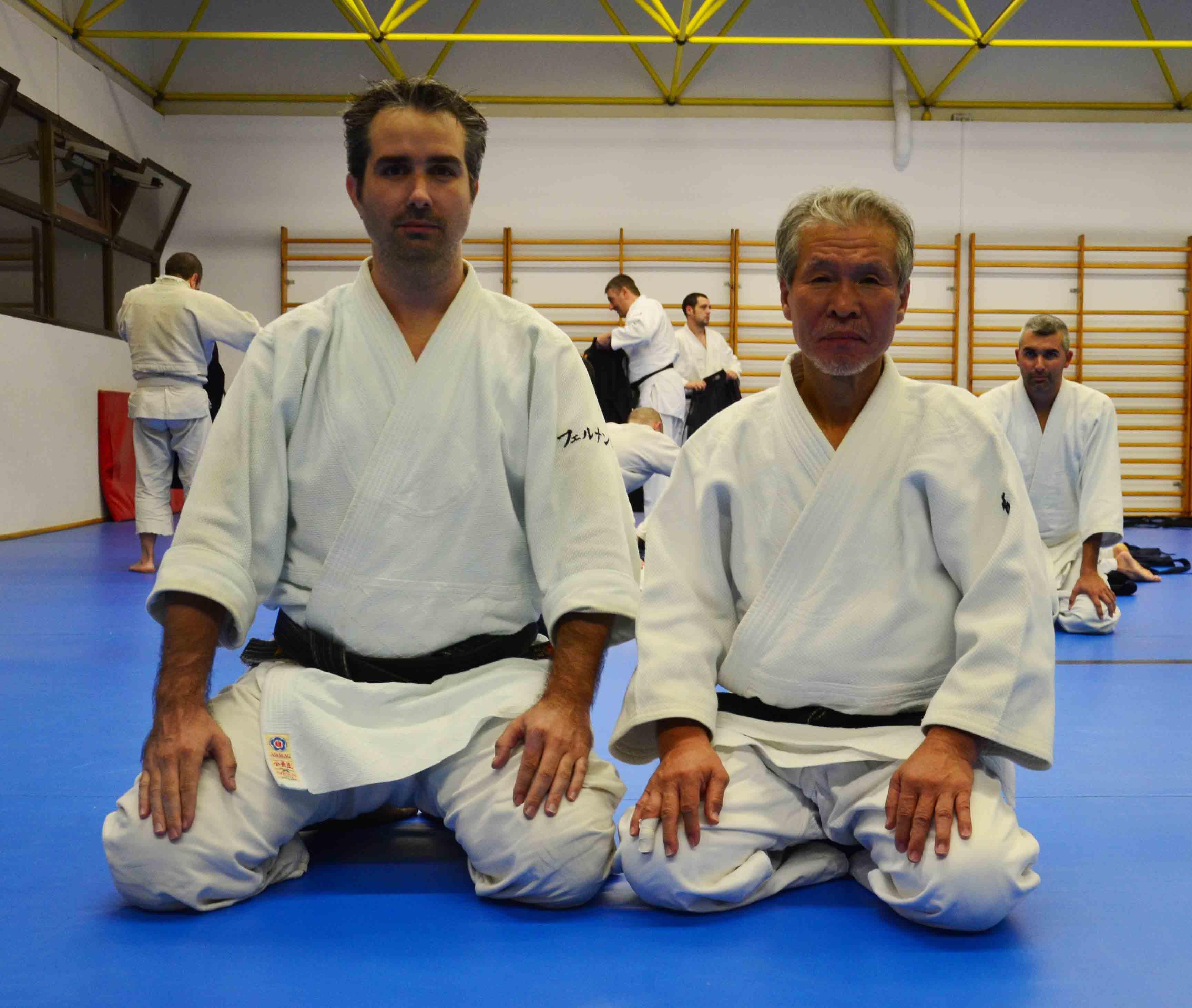 Junto a Tsuruzo Miyamoto Shihan