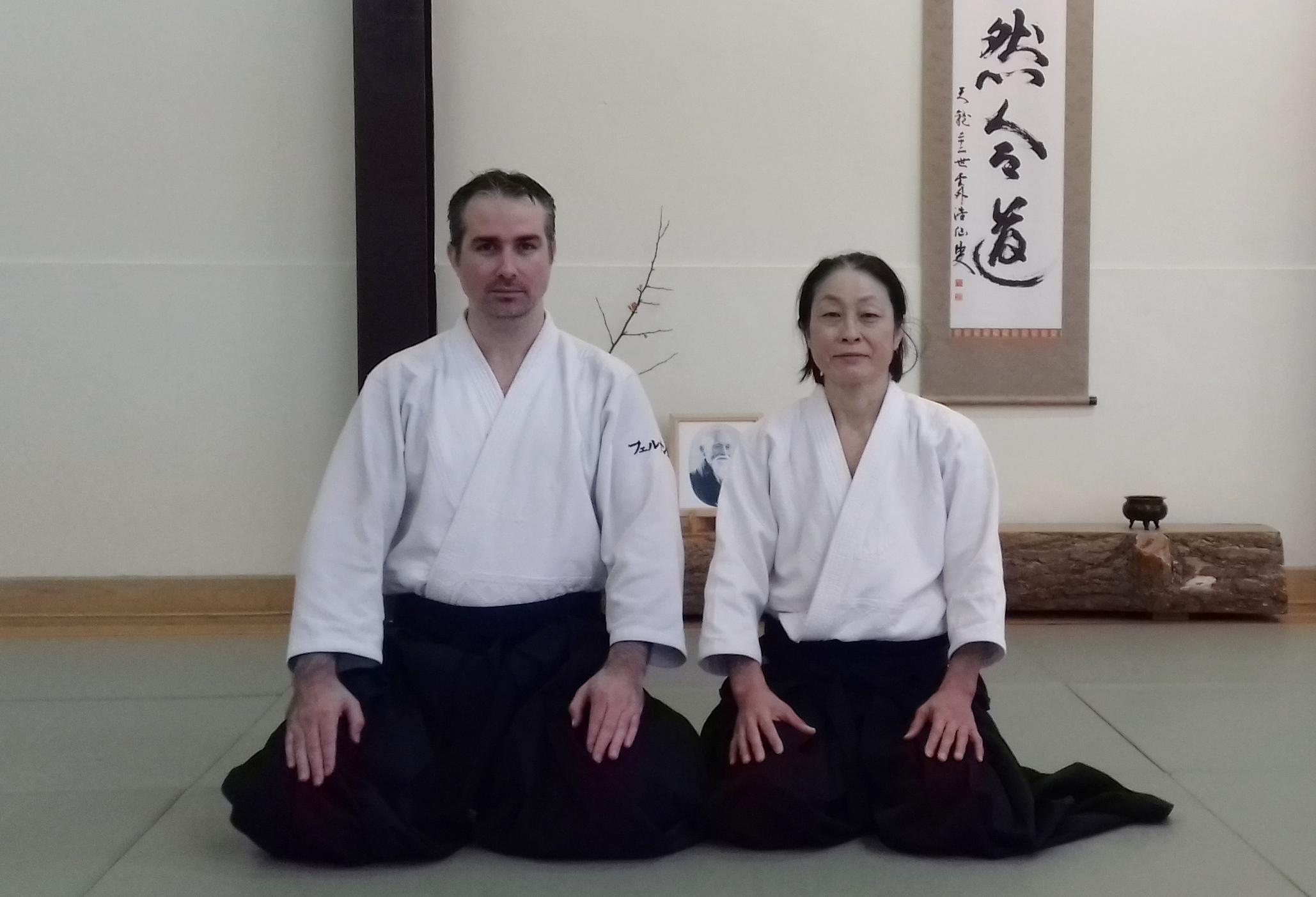 Junto a Yoko Okamoto Shihan